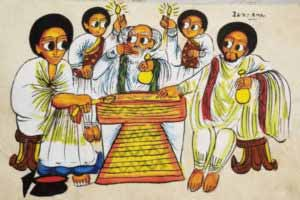 product-a20-vintage-ethiopian-paiting-on-leather